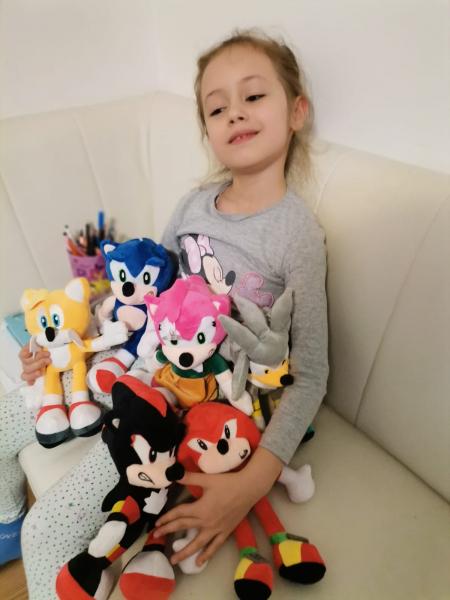 Set 6 buc Jucarii de plus Super Sonic - Set Plusuri Sonic Hedgehog 0
