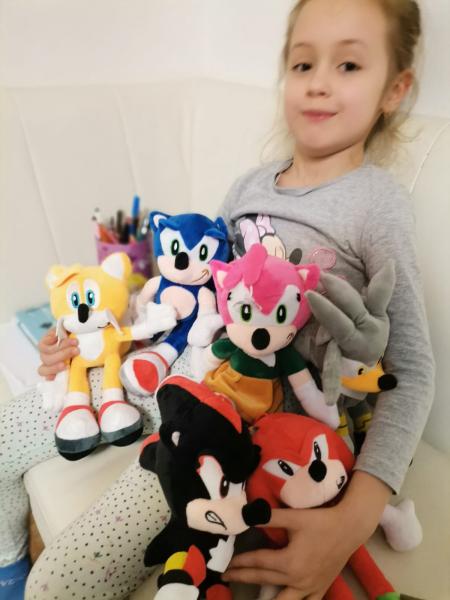 Set 6 buc Jucarii de plus Super Sonic - Set Plusuri Sonic Hedgehog 15