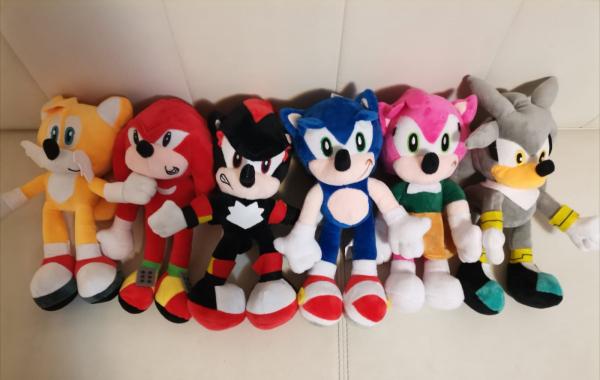Set 6 buc Jucarii de plus Super Sonic - Set Plusuri Sonic Hedgehog 1