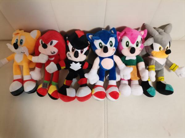 Set 6 buc Jucarii de plus Super Sonic - Set Plusuri Sonic Hedgehog 2