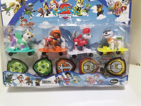 Set 4 figurine Patrula Catelusilor - Personaje din Patrula Catelusilor 0