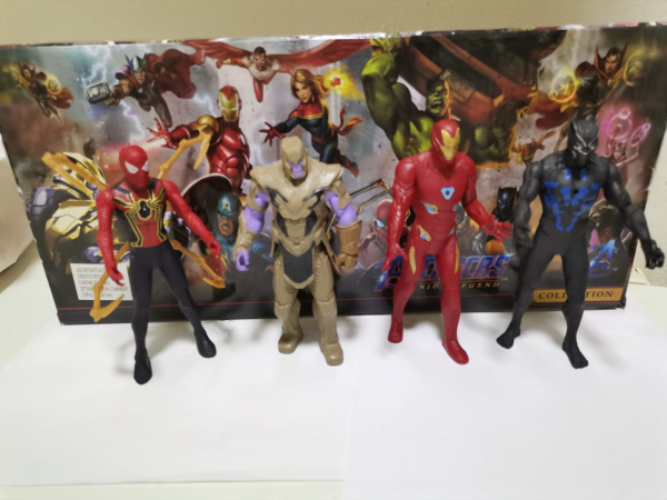 Set figurine tip Avengers Iron man Thanos Black Panther Siderman 3