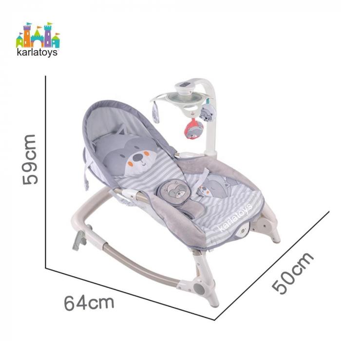 Scaun Balansoar Bebe cu Vibratii Carusel muzical si Lumini [1]
