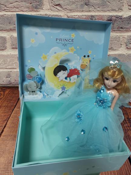 Papusa Muzicala rotativa in cutie cadou Little Princess 1