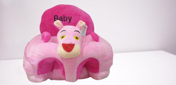 Fotoliu din Plus pentru Bebelusi cu arcada cu jucarii Pantera Roz 3