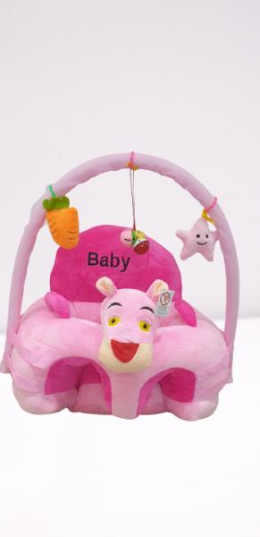 Fotoliu din Plus pentru Bebelusi cu arcada cu jucarii Pantera Roz 0