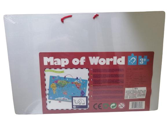 Harta lumii de perete magnetica cu 2 fete 4