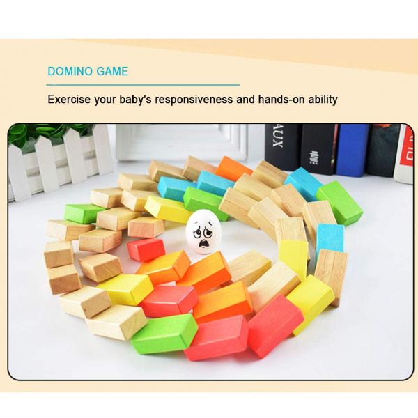 Joc din lemn cuburi de construit Zidul - Joc puzzle educativ Zidul 3