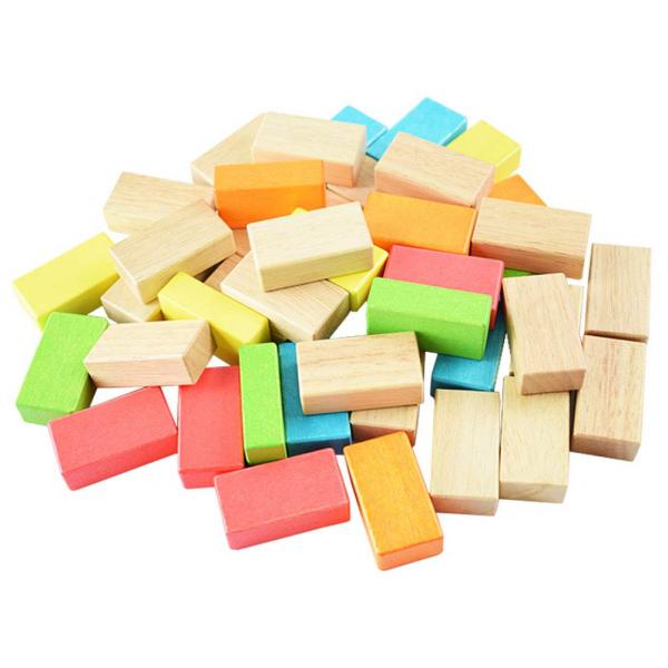Joc din lemn cuburi de construit Zidul - Joc puzzle educativ Zidul 5