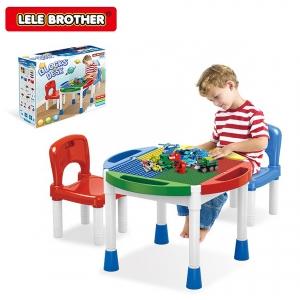 Masa Lego cu 2 Scaune 2 in 1 Compatibila cu Piesele Lego2