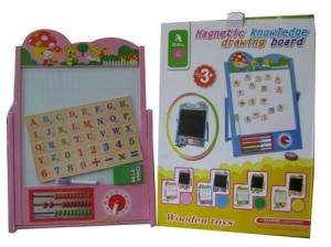 Tabla educativa cu ceas si abac rama colorata galbena0