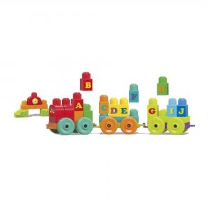 Set de contruit  100 de piese cuburi mari cu litere Mega Bloks Building3