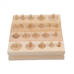 Joc de Lemn Cilindrii Montessori set 4 cilindiri1