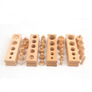 Joc de Lemn Cilindrii Montessori set 4 cilindiri2