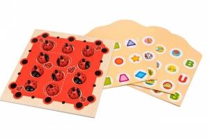 Joc de Memorie din Lemn Ladybug0