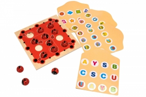 Joc de Memorie din Lemn Ladybug3