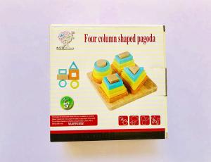 Joc lemn forme Geometrice 4 nivele - Sortator forme Geometrice 4 coloane2