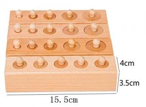 Joc de Lemn Cilindrii Montessori set 4 cilindiri7