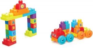 Set de contruit  100 de piese cuburi mari cu litere Mega Bloks Building0