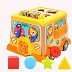 Autobuz din lemn cu centru de activitatii  si sunete3
