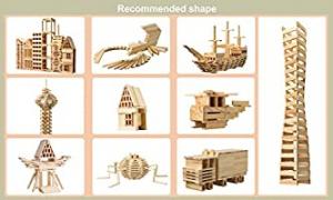Joc Constructie din lemn natur 300 piese2