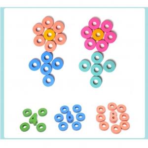 Joc Lemn Litere si Cifre 6 in 1 Joc Montessori Litere Cifre Mari [3]