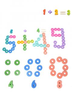 Joc Lemn Litere si Cifre 6 in 1 Joc Montessori Litere Cifre Mari [5]