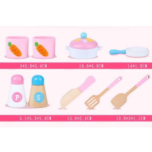 Mini Bucatarie de Lemn Pink Rabbit4