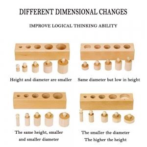 Joc de Lemn Cilindrii Montessori set 4 cilindiri9