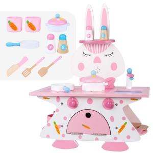Mini Bucatarie de Lemn Pink Rabbit2