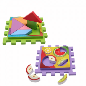 Joc Cub din Lemn multifunctional 6 in 1 Puzzle3