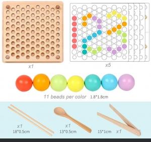 Joc din Lemn Montessori Sortator Culori - Joc educativ sorator culori12