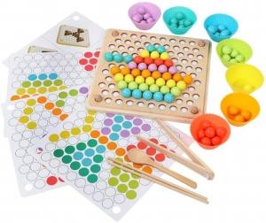 Joc din Lemn Montessori Sortator Culori - Joc educativ sorator culori0