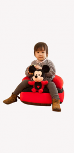 Fotoliu  plus Bebe cu spatar  sit up  Mickey sau Minnie Mouse1