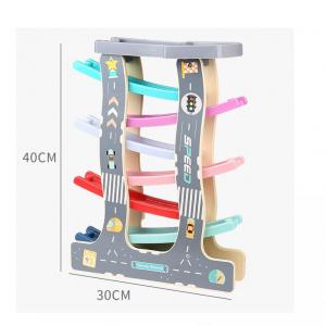 Circuit de Lemn cu Masinute 7 Piste - Pista de curse din lemn2