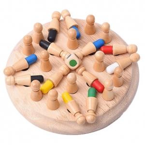 Joc din lemn Memorie CHESS -Joc din lemn cu Pioni0