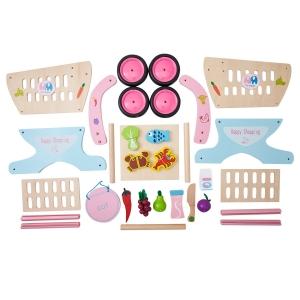Carucior de cumparaturi din lemn cu accesorii Happy Shopping [8]