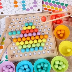 Joc din Lemn Montessori Sortator Culori - Joc educativ sorator culori16