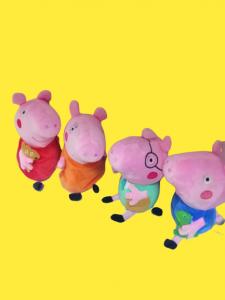 Set 4 jucarii de plus Purcelusa Peppa Pig [1]