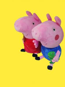 Set 4 jucarii de plus Purcelusa Peppa Pig [0]