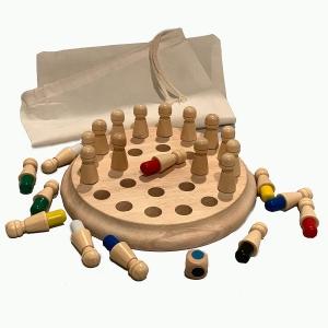 Joc din lemn Memorie CHESS -Joc din lemn cu Pioni3