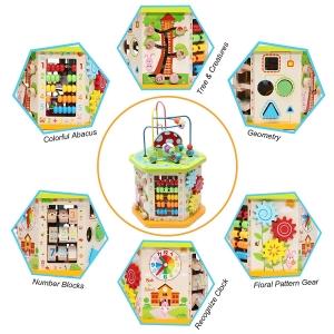 Centru de activitatii Cub multifunctional 9 in 1 Mushroom6