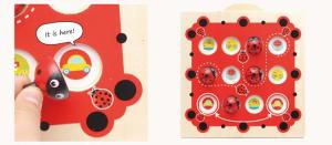 Joc de Memorie din Lemn Ladybug1