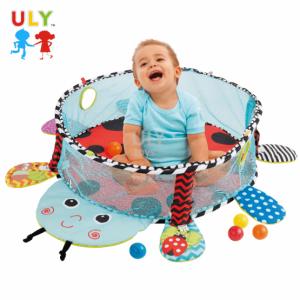 Saltea activitati bebe si centru de joaca cu bile 3 in 13