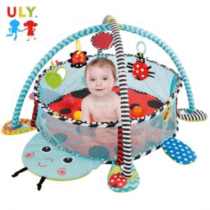 Saltea activitati bebe si centru de joaca cu bile 3 in 15