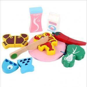 Carucior de cumparaturi din lemn cu accesorii Happy Shopping [6]