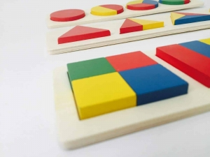 Set 3 Puzzle Forme Geometrice din Lemn Motessori2