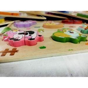 Set 2 puzzle din lemn incastru 3D diferite modele [3]