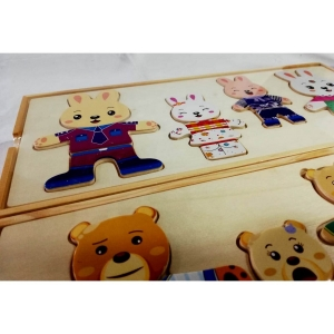 Joc puzzle sa imbracam iepurasul sau ursuletii [1]