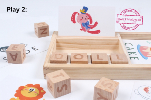 Set Blocuri din lemn Litere si Cartonase [4]